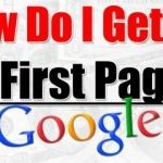 How to get on the First page of Google Search