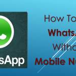 How To Use Whats App Without Mobile Number