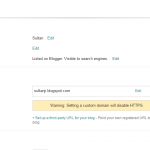 How do I use my domain with my Blogger account ?